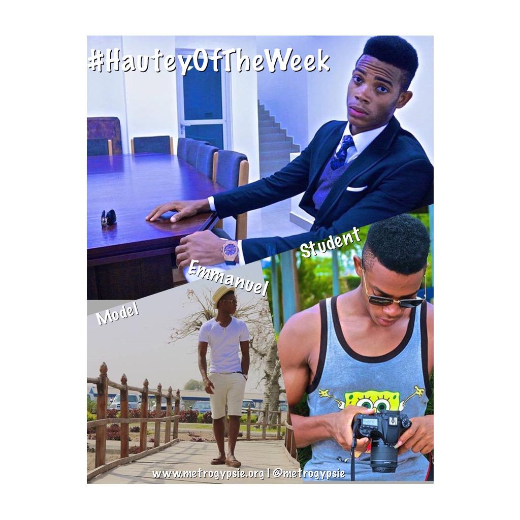 #HauteyOfTheWeek #Student #MultimediaDesign #Model #Emmanuel